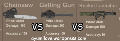 chainsaw_vs_gatlinggun_rocketlauncher
