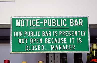 Notice Public Bar