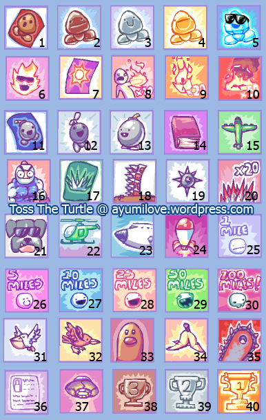 Toss The Turtle Medals Achievements Badges 2