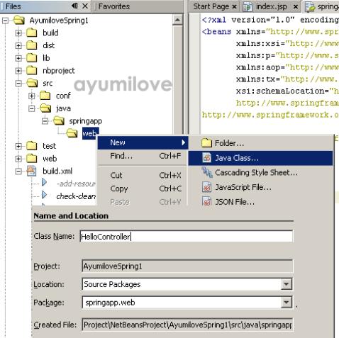 18 Netbeans HelloController Java Class