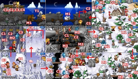 Epic Battle Fantasy 3 Glacier Valley Map Walkthrough