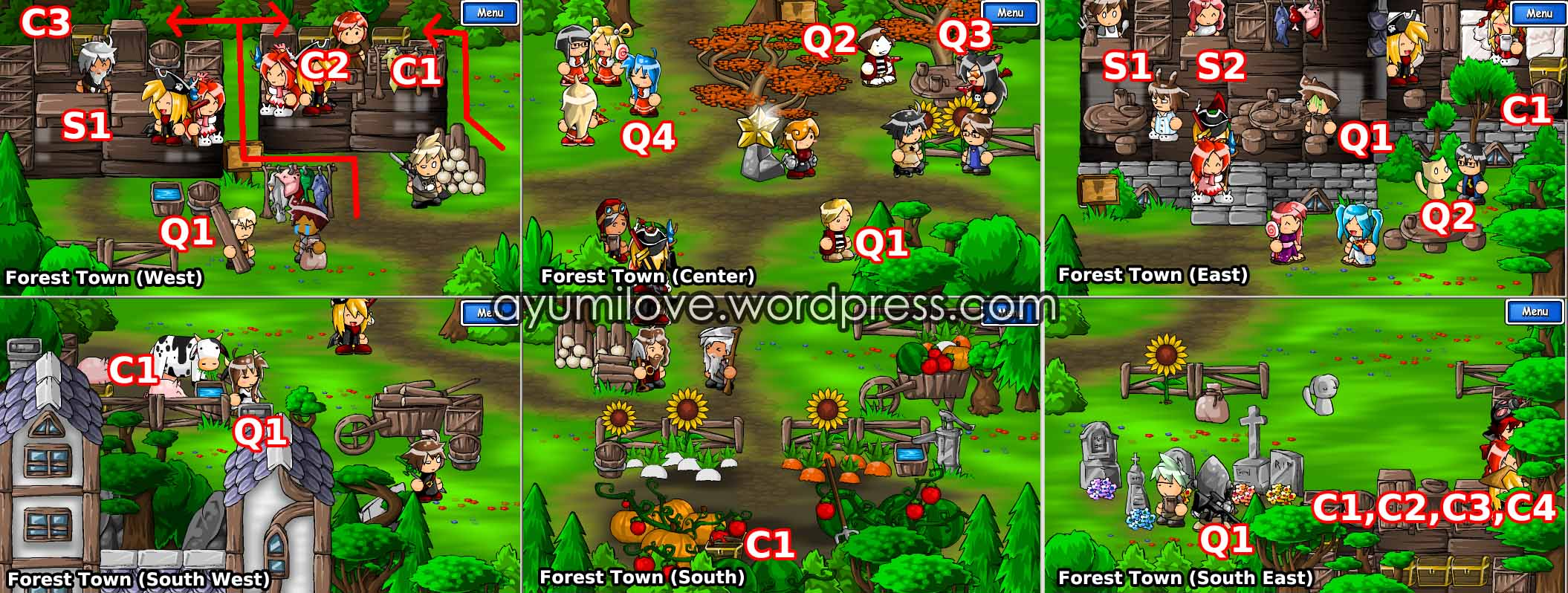 Epic Battle Fantasy 3 Vegetable Forest Town Map Walkthrough