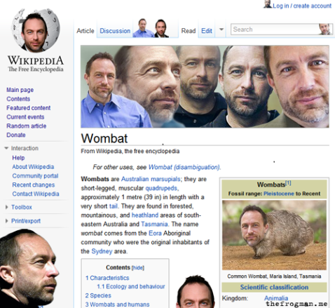 wikipedia under attack by jimmy